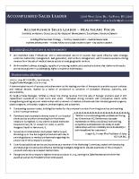 executive style resume