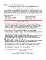 Amazing Healthcare Professional In Young Professional Resume