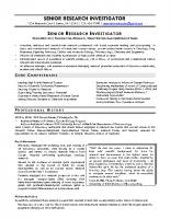 Senior Research Investigator