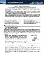 Senior Sales Executive – Resume